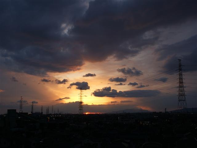 写真練習:夕日
